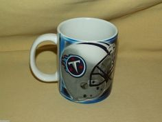 TENNESSEE TITANS MUG FOOTBALL NFL HELMET LOGO COFFEE MUG TEA CUP EMBLEM USED #TennesseeTitans