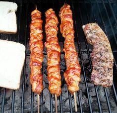 Sanna´s Hexenküche: Hähnchen Kebabs mit Bacon-Marinade
