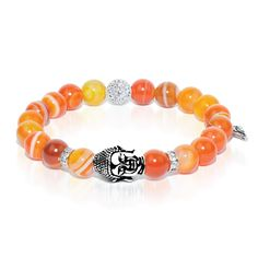 Bliss - Carnelian Buddha Dharma Stone Bracelet The Bliss bracelet, of the Noble 8 Fold Path Series, is crafted from Carnelian Stones. Carnelian is stimulating and warm; it represents courage and motivation. - See more at: http://www.josephnogucci.com/collections/dharma-stone/products/bliss