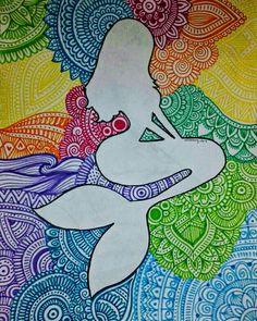 tattoo - mandala - art - design - line - henna - hand - back - sketch - doodle - girl - tat - tats - ink - inked - buddha - spirit - rose - symetric - etnic - inspired - design - sketch Cute Doodle Art, Doodle Art Designs, Doodle Art Drawing, Mandalas Drawing, Zentangle Drawings, Doodle Girl, Zentangle Patterns, Zentangles, Mandala Art Lesson