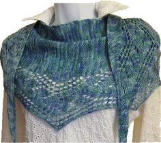Ocean City Shawlette - via @Craftsy