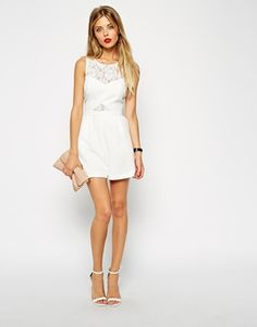 Enlarge ASOS Playsuit with Lace Detail