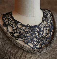 """NEW WORKSHOPThree Pieces in 3 hours""""Creative Knitting - with Teresa Dair.You will investigate the wonderful Textures and Effects achievable knitting wi. Neck Piece, 3 Piece, Crochet Necklace, Beaded Necklace, Creative Knitting, Jewels, Fiber, September, Jewellery"""