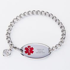 My Identity Doctor White Red Millefiori Glass Pre-Engraved /& Customized CAL Lung Disease Charm Medical Bracelet