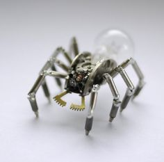 Exceptional Mechanical Insects Created Utilising Watch Parts  #Art #Design #Mechanical