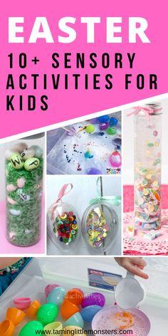 Sensory Bins, Sensory Activities, Sensory Play, Activities For Kids, Preschool Classroom, Toddler Preschool, Easy Easter Crafts, Arts And Crafts Projects, Pre School