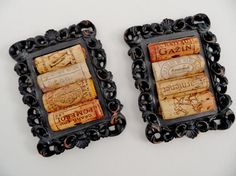 Black Rustic Wine Cork Coasters
