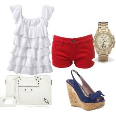 What a GREAT fourth of July outfit!!! I have the shoes and the shirt, just need red shorts!