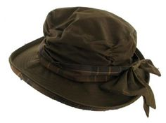 01c8617b486 Barbour Ladies Waxed Cotton Hat with Bow at Cox the Saddler