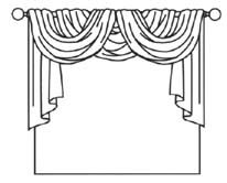 Common Forms Of Curtain Arrangements   Simple Drawings But Pretty Helpful  To Visualize
