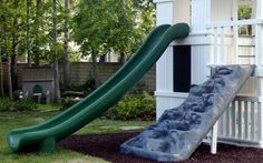 Kid S Slide From A Second Story Deck Easy To Install And You Don T Have To Get An Entire Play