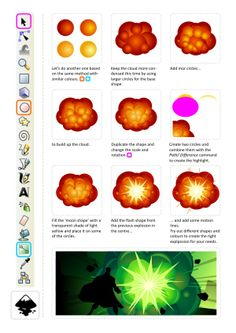 2D Game Art for Programmers: Back with a BANG! several nice explosion efects
