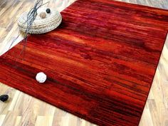 Venezia Luxus Designer Teppich Streaky Rot Carpet Design, Red Carpet, Dark Red, Types Of Rugs, Luxury