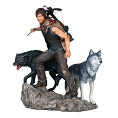 Walking Dead Daryl Dixon and the Wolves Statue