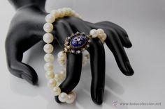 Antigüedades: OFERTA! Collar Chocker de Bellas Perlas Japonesas Esfericas 10mm. Esmaltes, Diamantes y Oro 18k. - Foto 3 - 51126883