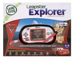 LeapFrog Leapster Explorer Disney Pixar Cars 2 by LeapFrog. $99.95. From the Manufacturer                Leapster Explorer is the extraordinary learning experience that encourages children to discover something new every day with endless ways to play and learn--from games, e-Books, videos, and online play to customizable learning skills and more. This Special Edition hardware features a Cars 2 design. 40+ games and activities--downloadable learning apps, a camera/video ...