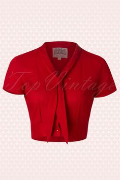 The Seamstress of Bloomsbury - 50s Sailor Bonnie Blouse in Red