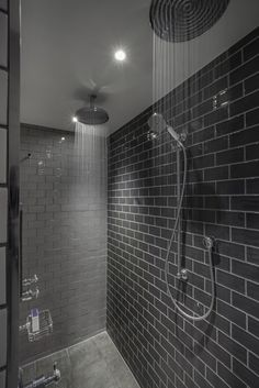 Grey Double Waterfall Shower The Most Useful Bathroom Shower Ideas There are almost uncountab Shower Heads Best, Double Shower Heads, Modern Bathroom, Master Bathroom, Bathroom Ideas, Bathroom Updates, Master Shower, Ensuite Bathrooms, Bathroom Inspo