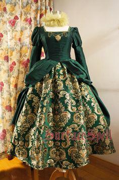 表面咒语gothic Lolita定制店The Other Boleyn Girl都铎风宫廷裙-淘寶台灣,萬能的淘寶
