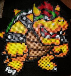 DeviantArt: More Like Perler Sonic 2 Emerald Hill Boss by rushtalion Perler Bead Templates, Fusion Beads, Mario Brothers, Perler Beads, Pixel Art, Bowser, Christmas Wreaths, Projects To Try, Deviantart