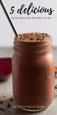 5 delicious low-carb Keto smoothies that won't kick you out of ketosis. 5 surprisingly low-carb Keto smoothie recipes that taste more like milkshakes and they won't kick you out of ketosis. Keto Breakfast Smoothie, Keto Smoothie Recipes, Low Carb Smoothies, Diet Recipes, Fruit Smoothies, Recipies, Keto Shakes, Keto Protein Shakes, Low Carb Shakes