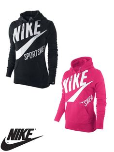 Fashion Women Clothes on Women Womens Clothing Hoodies Nike Logo ...