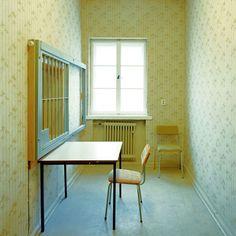 Viewing Banality, inside the Stasi's Secret Rooms of Recent History :  Daniel & Geo Fuchs, Untersuchungs-Haftanstalt Hohen-schönhausen, erste Anhörung, Detail, 2004.