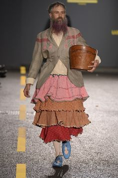 I'm pretty sure a woman could pull this off too (Central Saint Martins BA SS 2015)