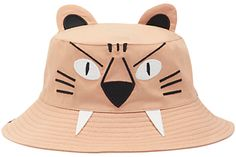 Joules Little Joule Children's Hat Attack Tiger Bucket Hat, Natural