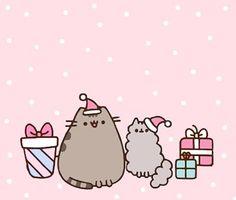 How cute is this? Pusheen Love, Pusheen Plush, Pusheen Cat, Pusheen Christmas, Christmas Cats, Pusheen Stormy, Anime Sisters, Dibujos Anime Chibi, Fnaf