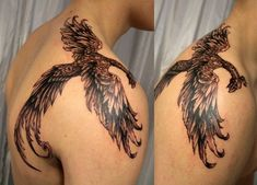 Tattoos with phoenix designs. And it is that with the phoenix you can create colorful and powerful designs, which is why these Tattoos Arm Mann, Back Tattoos, Arrow Tattoos, Cover Up Tattoos, Arm Tattoos For Guys, Trendy Tattoos, Forearm Tattoos, Sleeve Tattoos, Cool Tattoos
