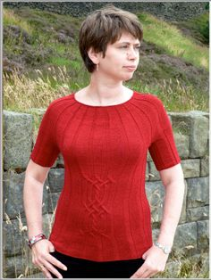 Love this pattern. And that it's top down in the round knitting. #sweater #topdown