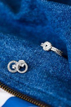 #Stilkompass Logo/Denim - mit Pandora Ring und Ohrringen