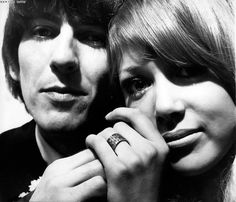 George and Pattie Boyd... the ring, on the day. not gunna lie, i love that ring!