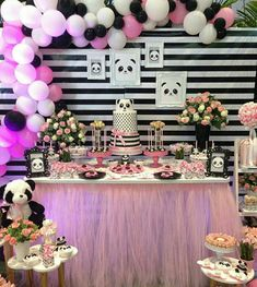 Pretty in pink panda party