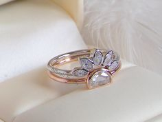 Price: $39 # Unusual rare Marquise Diamond Style rings set