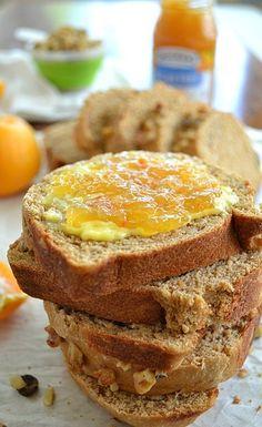 Orange Walnut Bread | Fresh, sunny flavor of orange in every bite!
