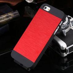 5S Metal Case Deluxe Luxury Gold Aluminum Metal Brush Case For iPhone 5 5S SE Hard Plastic Frame Slim i5 Back Mobile Phone Cover