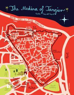 illustrated maps by bianca tschaikner