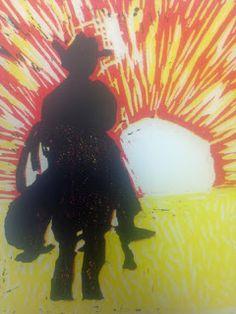Linoblock print /High School Art Ideas