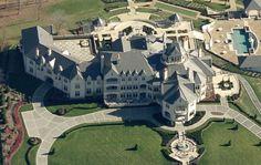 | Bird's Eye View Of 40,000 Square Foot Pennsylvania Mega Mansion ...