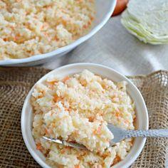 Ensalada de col cremosa estilo KFC o coleslaw www.pizcadesabor.com