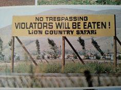 1970's Lion Country Safari California