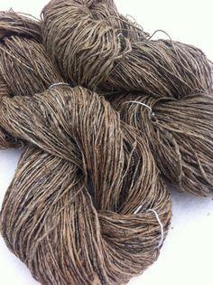 Organic hemp yarn for fibre and textile art by Yarnyarnyarns