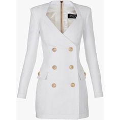 New dress long sleeve short 31 ideas White Long Sleeve Dress, White Mini Dress, Dress Long, Dress Black, Elegantes Party Outfit, Coat Dress, New Dress, Dress Outfits, Fashion Dresses