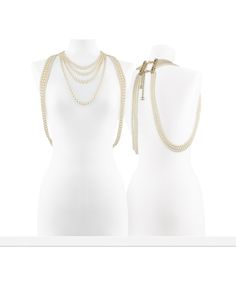 Large glass pearl necklace with... - CHANEL