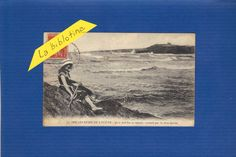 CPA - SUR LES BORDS DE L OCEAN - BAIGNEUSE - 1929