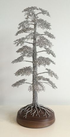 Beautiful handmade wire tree sculptures. Art for the home.