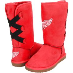 Detroit Red Wings Cuce Women's Conqueror Boots - $99.99