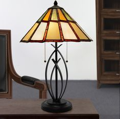 River of Goods Modern 23 Inch High Stained Glass Table Lamp